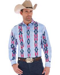 Wrangler Checotah Men's Multi Vertical Stripe Long Sleeve Shirt , , hi-res