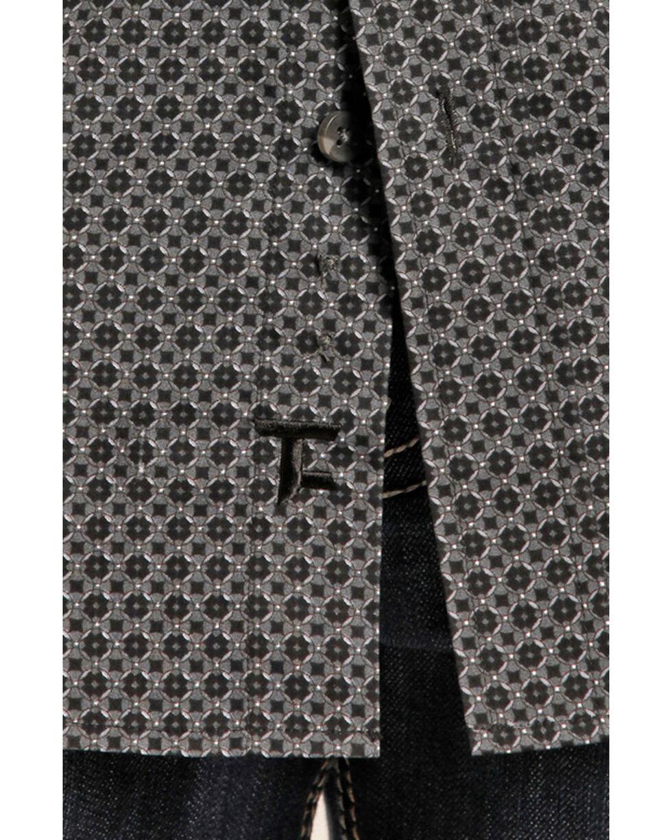 Tuf Cooper Performance Men's Black Print Long Sleeve Shirt , Black, hi-res