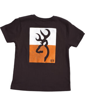 Browning Boys' Black Colorblock Buckmark Tee , Black, hi-res