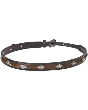 Cody James Diamond Studded Horsehair Hat Band, Black/brown, hi-res