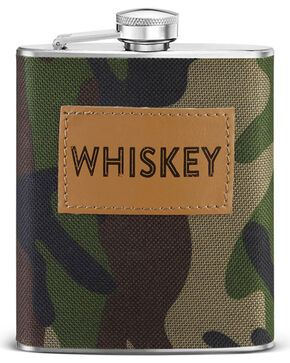 Big Sky Carvers Camo Whiskey Flask, No Color, hi-res