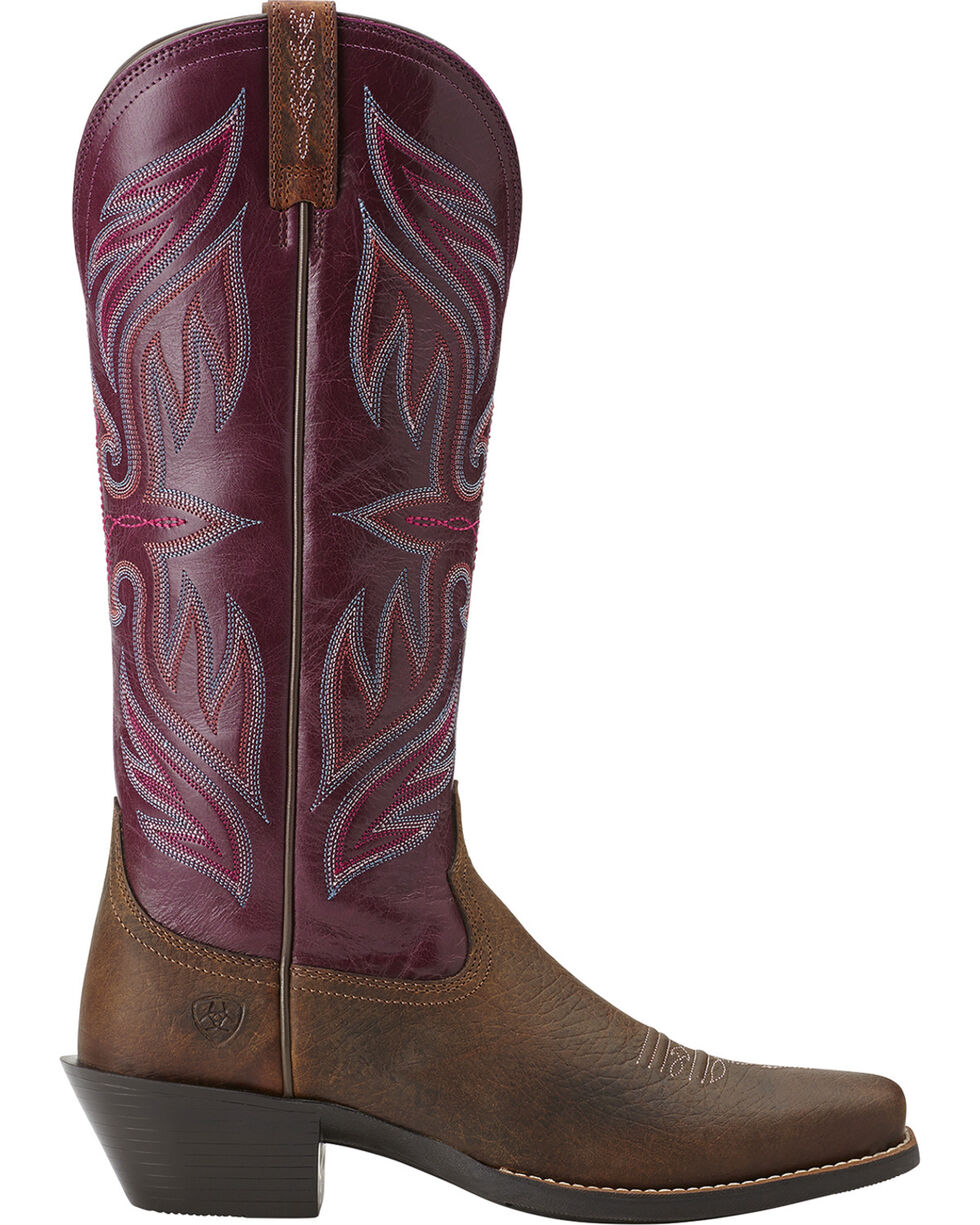 Ariat Women's Square Toe Round Up Buckaroo Boots, Earth, hi-res