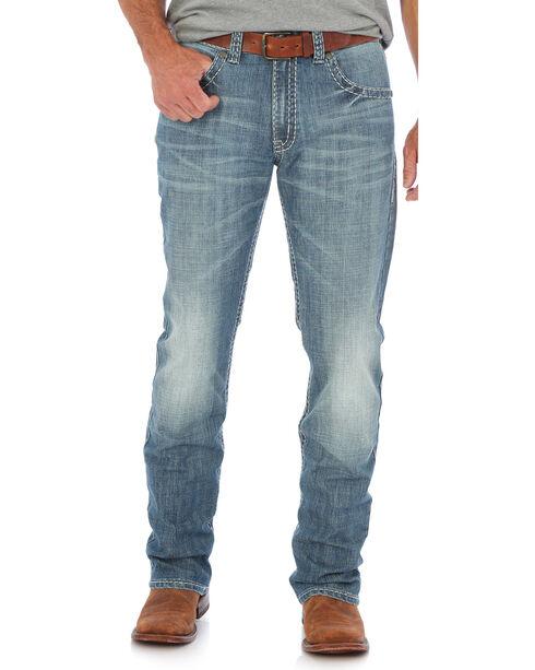 Wrangler Men's Blue 20X 44 Slim Fit Jeans - Straight Leg , Light Blue, hi-res