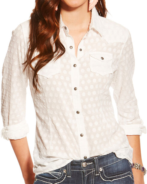 Ariat Women's Carol Long Sleeve Shirt, Multi, hi-res