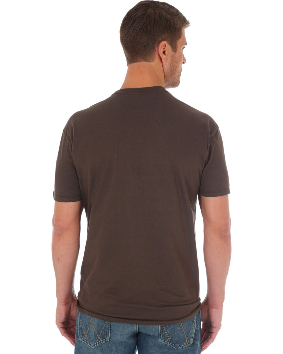 Wrangler Rock 47 Men's Brown Beware of Bull Tee , Brown, hi-res