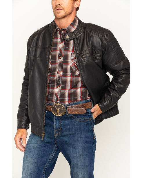 Cody James® Men's Devils Bend Faux Leather Jacket , Brown, hi-res
