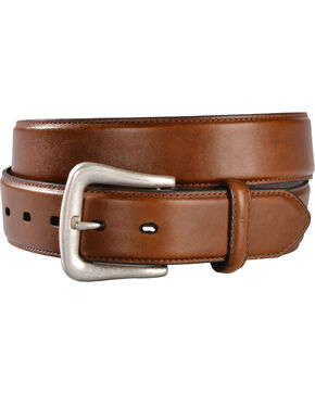 Nocona Men's Smooth Leather Western Belt, Brown, hi-res