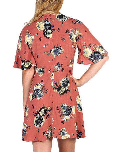 Black Swan Women's Madeline Floral Dress, Brown, hi-res