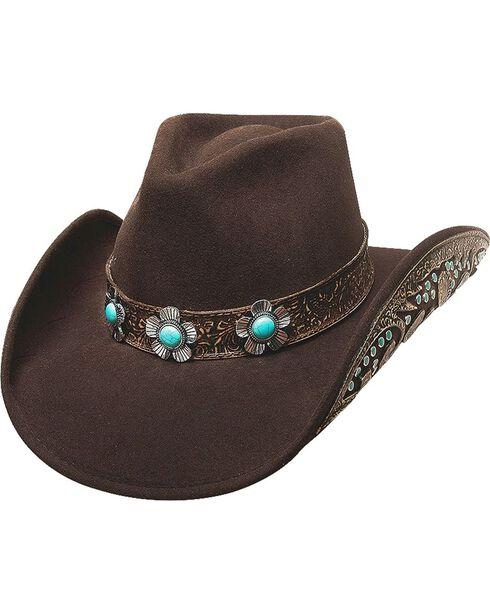 Bullhide Women's Sweet Emotion Wool Hat, Chocolate, hi-res