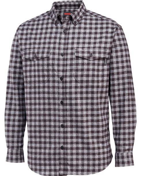 Wolverine Men's Drummond Long Sleeve Flannel Shirt, Black, hi-res