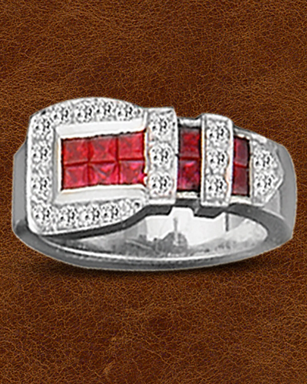 Kelly Herd Sterling Silver Ranger Style Buckle Ring , Silver, hi-res
