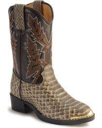 Durango Children's Snake Print Western Boots, , hi-res