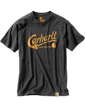 Carhartt Men's Maddock Graphic Ax Short Sleeve Tee , Charcoal, hi-res