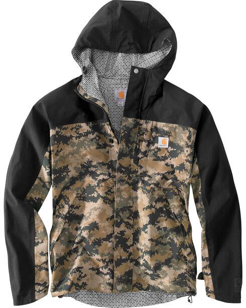 Carhartt Men's Camo Shoreline Vapor Waterproof Jacket - Big & Tall, Camouflage, hi-res