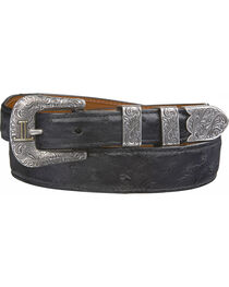 Lucchese Men's Black Full Quill Ostrich Leather Belt, , hi-res