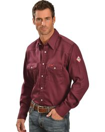 Wrangler Men's FR Lightweight Sateen Work Shirt, , hi-res