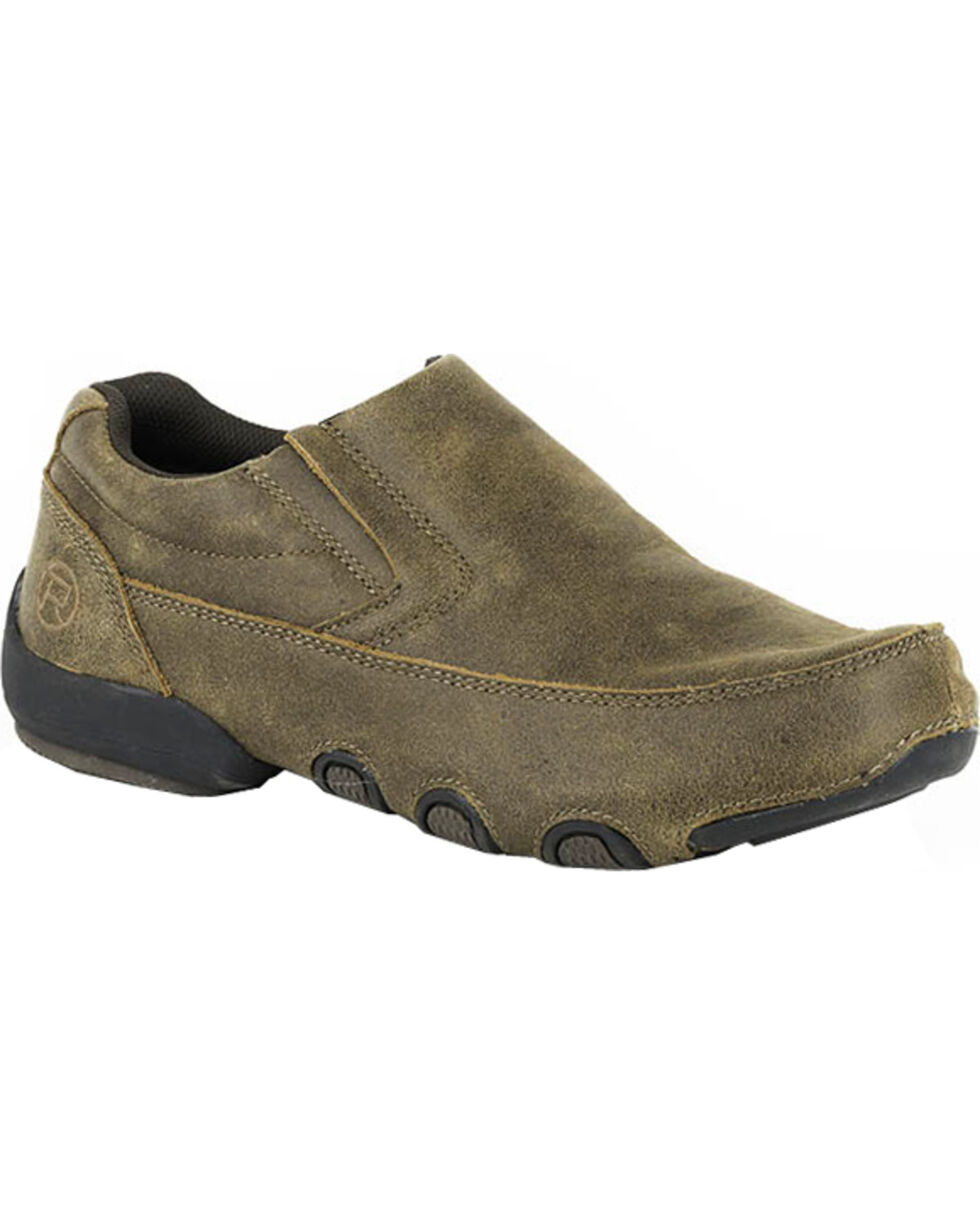 Roper Men's Country Cruisers Slip-On Chukka Casual Shoes, Brown, hi-res