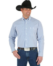 Wrangler George Strait Men's Mini Striped Long Sleeve Shirt, , hi-res