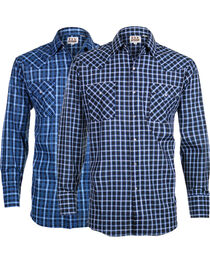 Ely Cattleman Men's Assorted Classic Plaid Long Sleeve Shirt, , hi-res