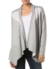 Miss Me Women's Crochet Dolce Cardigan, , hi-res