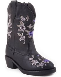Roper Infant's Cracked Glitter Western Boots, , hi-res