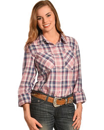 New Direction Sport Women's Plaid Western Shirt , , hi-res