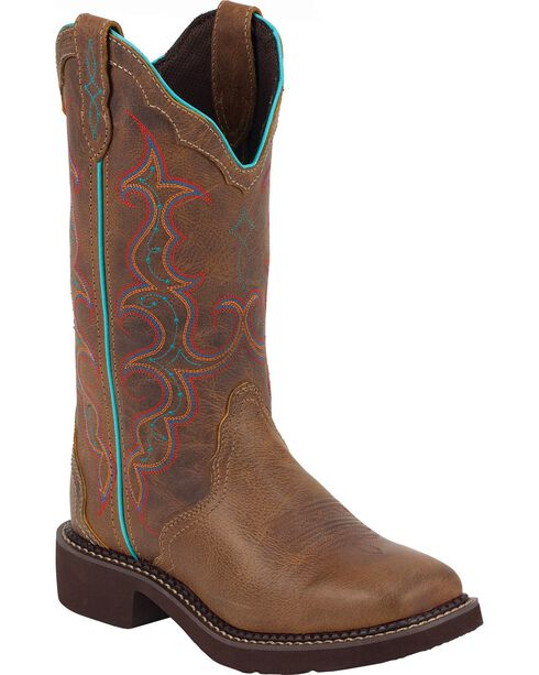 Justin Gypsy Women's Square Toe Western Boots, Tan, hi-res