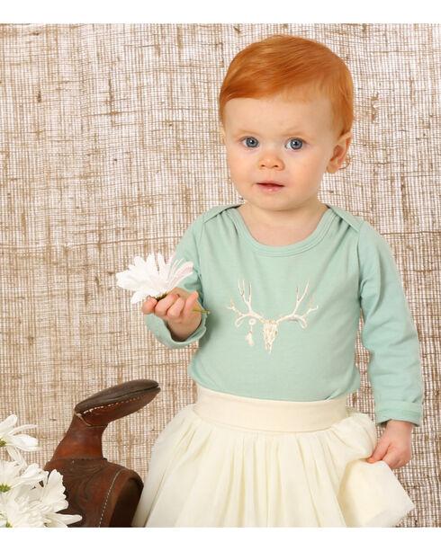 Wrangler Infant Girls' Cowskull Onesie, Green, hi-res