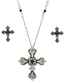 Shyanne® Women's Vintage Cross Jewelry Set, , hi-res