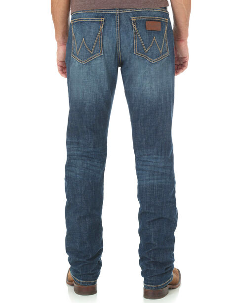 Wrangler Retro Men's Slim Fit Straight Leg Jeans, Blue, hi-res