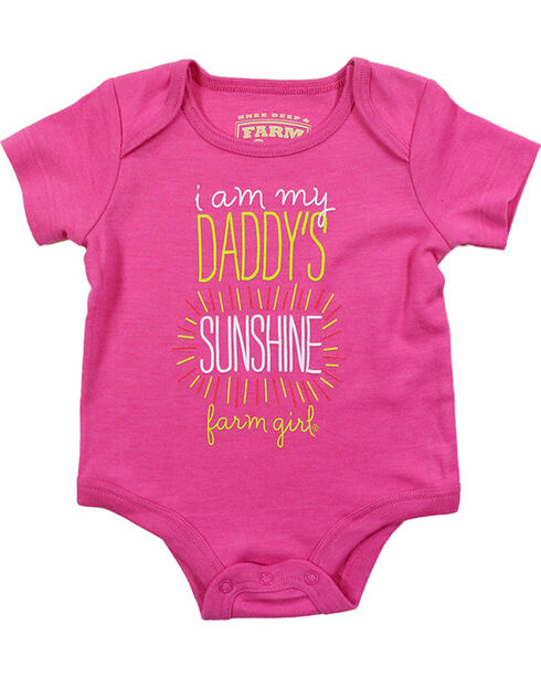 "Farm Girl Infants' 'I Am My Daddy's Sunshine"" Short Sleeve Onesie, Pink, hi-res"