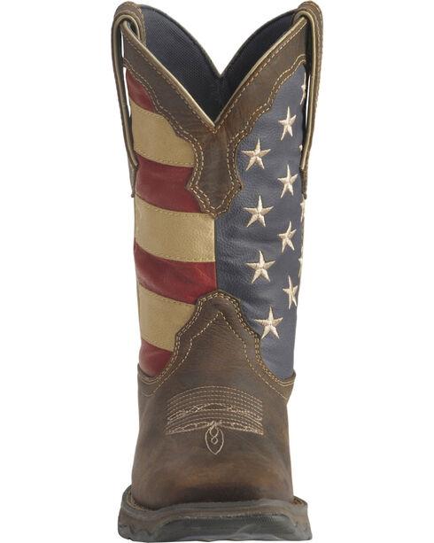 Durango Women's Patriotic Lady Rebel Western Boots, Brown, hi-res