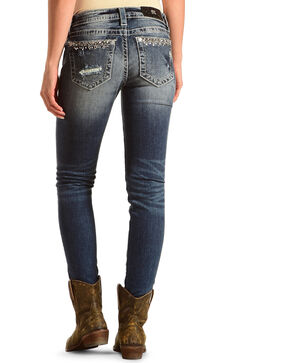 Miss Me Women's Plain Pocket Skinny Jeans, Indigo, hi-res