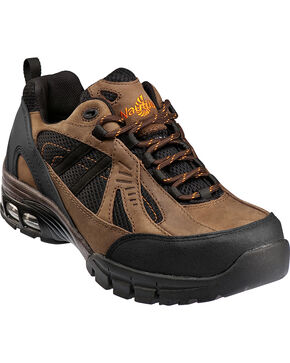 Men's Nautilus Men's Brown Metal Free Work Athletic Shoes - Comp Toe , Brown, hi-res