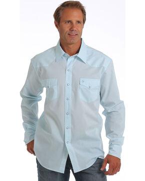 Cinch Men's Garth Brooks Tonal Long Sleeve Shirt, Light Blue, hi-res