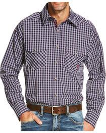 Ariat Men's Blue Ravendale Long Sleeve Snap Shirt , , hi-res