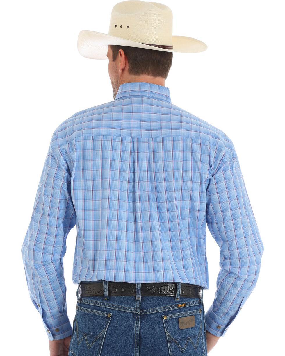 Wrangler George Strait Men's Blue Long Sleeve Shirt - Tall , , hi-res