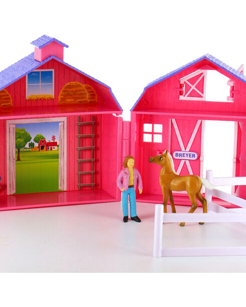 Breyer Stablemates Horse Crazy Pocket Barn, Multi, hi-res