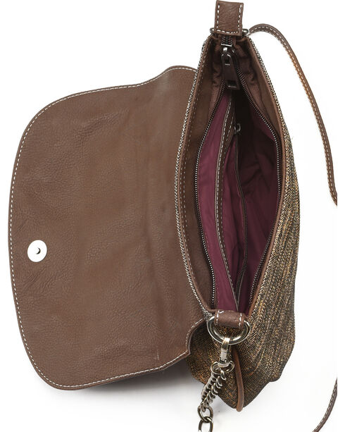 Trenditions Women's Brown Way West Poppy Crossbody , Brown, hi-res
