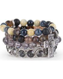 Shyanne® Women's Multi-layered Faith Bracelets, , hi-res