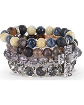 Shyanne® Women's Multi-layered Faith Bracelets, Silver, hi-res