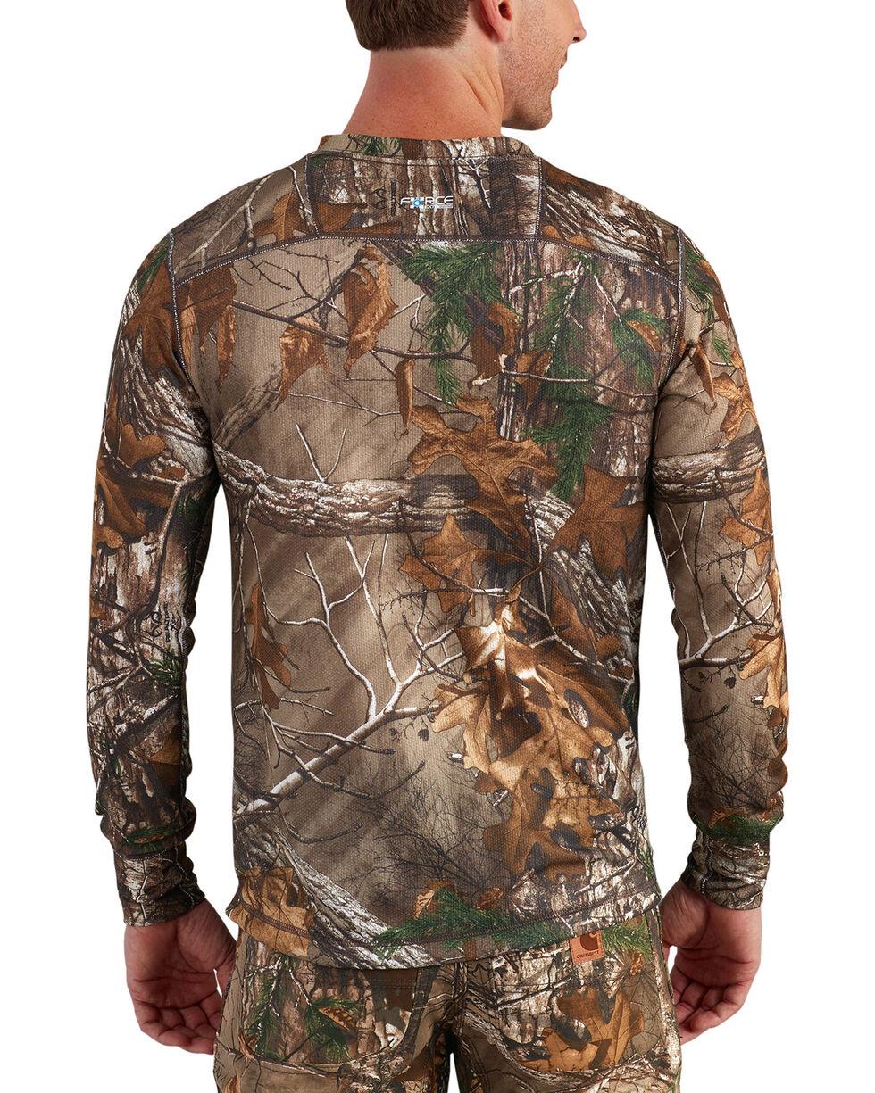 Carhartt Men's Base Force Extremes Cold Weather Camo Crewneck Shirt -Big, Camouflage, hi-res