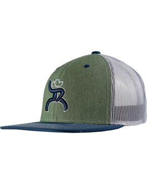 Hooey Men's Roughy Trucker Baseball Cap , Green, hi-res