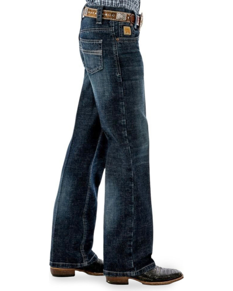Cinch Boys' Carter Dark Wash Regular Fit Jeans (4) - Boot Cut , Indigo, hi-res