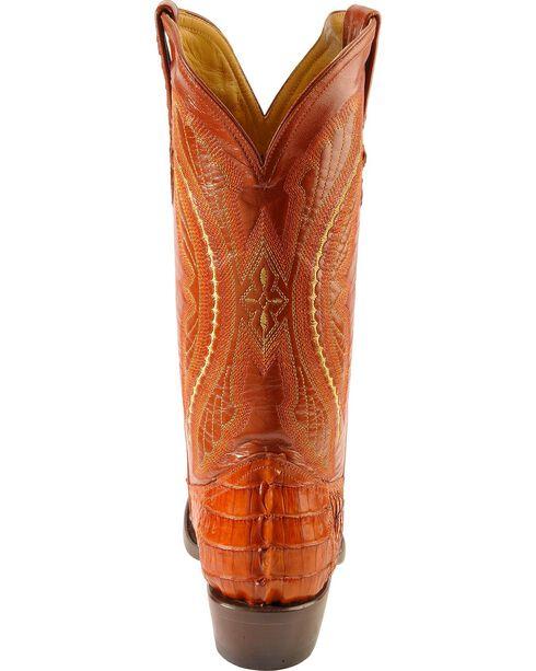 Ferrini Men's Caiman Crocodile Tail Exotic Western Boots, Cognac, hi-res