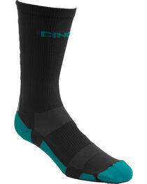 Cinch Men's Grey Crew Sock , , hi-res
