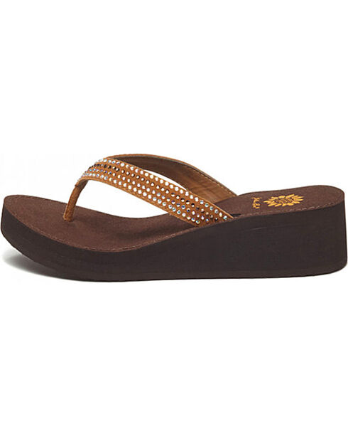 Yellow Box Women's Baxx Sandals, Cognac, hi-res