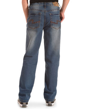 Silver Toddler Boys' Benny Medium Wash Jeans - Straight Leg, Indigo, hi-res
