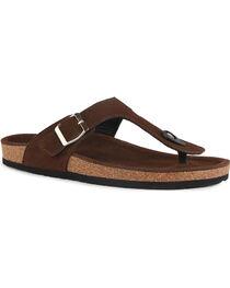 Lamo Women's Redwood Thong Sandals , Chocolate, hi-res