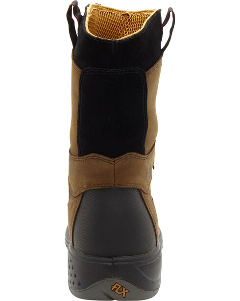 Georgia Men's FLXPoint Composition Toe Work Boots, Brown, hi-res